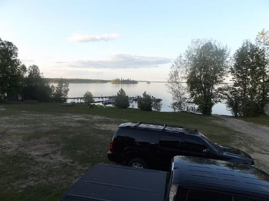Ear Falls, Canada: View of the lake and dock from cabin 2