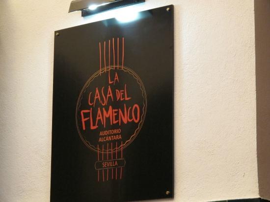 Hotel Alcantara: Sign for good flamenco show at htoel