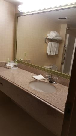 Holiday Inn Express Birch Run (Frankenmuth Area): Very clean and updated bathrooms