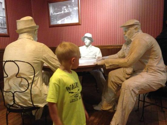 Minnesota Discovery Center: Grandson checks out the card players.