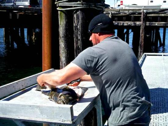 Trailhead Resort: Catch is filleted