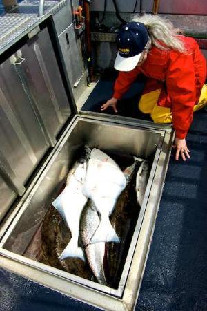 Trailhead Resort: Admiring our big catch