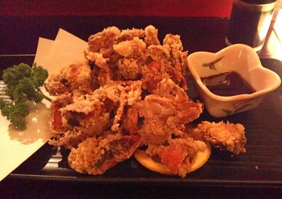Kura Japanese Sake Bar: Deep-fried soft-shell Crab