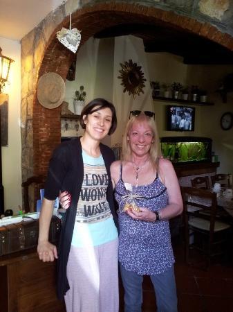B&B Elena: Con Irina, simpática, amable y muy dulce.