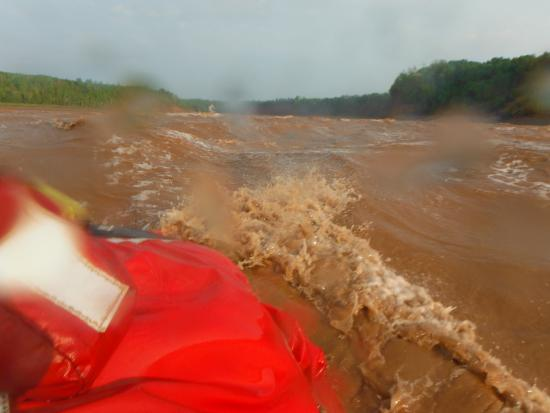Shubenacadie River Runners: One of the smaller rapids. I couldn't hold the camera for the 15 footers. Had to hold on.