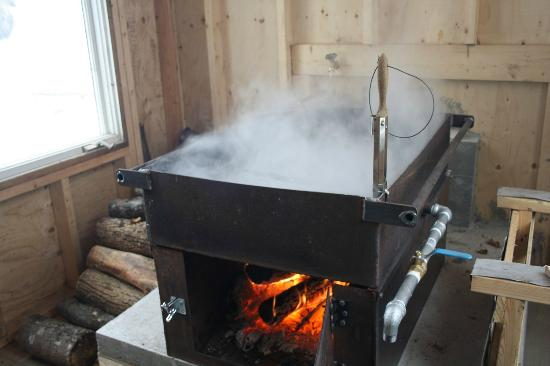 Denbigh, Kanada: Maple sap evaporator