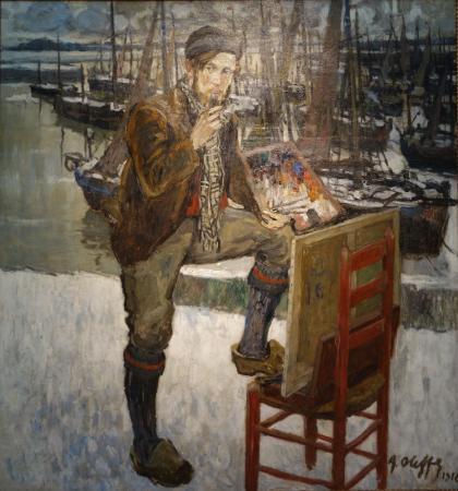 Musee des Beaux-Arts d'Ixelles: Auguste Oleffe: Portrait du peintre Jehan Frison