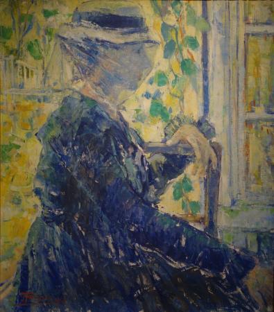 Musee des Beaux-Arts d'Ixelles: Jehan Frison: La dame en bleu