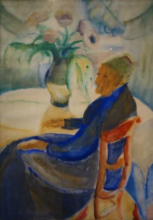 Musee des Beaux-Arts d'Ixelles: Ferdinand Schirren: Femme assise