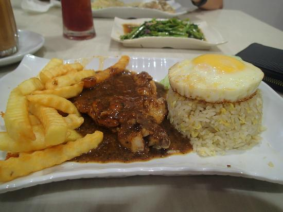 Uncle Chua Signature: Chicken Chop with Fried Rice