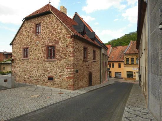 Ein Gebäudeteil von Luthers Anwesen in Mansfeld