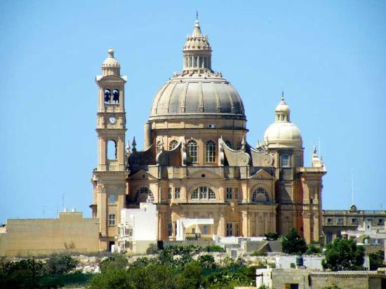 Xewkija, Malta: St John the Baptist Church from the side. A beauty, isn't it?