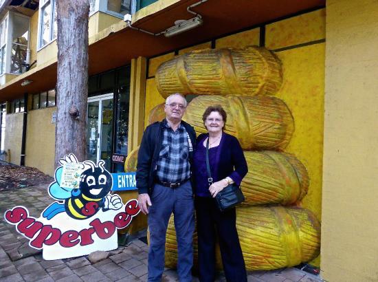 Superbee Honeyworld: Zdravko & me at the Entrance