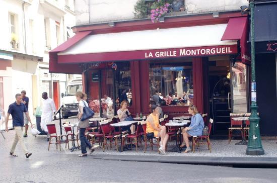 Fa ade du restaurant et terrasse photo de la grille montorgueil paris tripadvisor - Restaurant la grille paris 10 ...