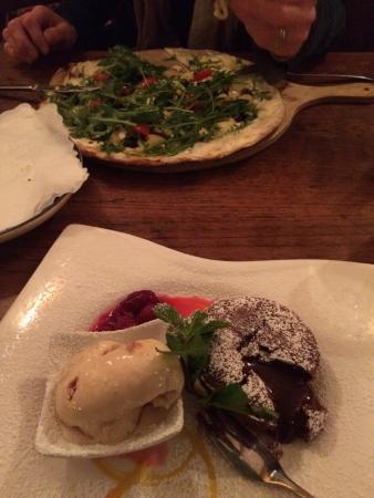 Gugelhof: Flammkuchen and amazing dessert