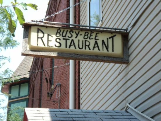 "Busy Bee Restaurant : Sign ""Busy Bee"""