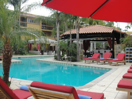 Atrium Hotel at Orange County Airport: Pool view