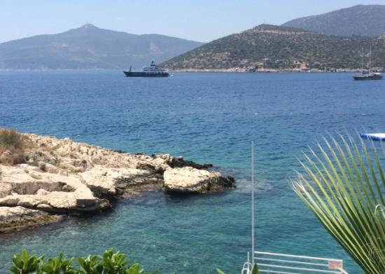 The amazing view - Picture of Palm Beach Club, Kalkan ...