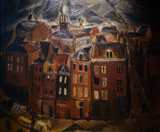 Musee des Beaux-Arts d'Ixelles: Gustave de Smet: Vue d'Amsterdam