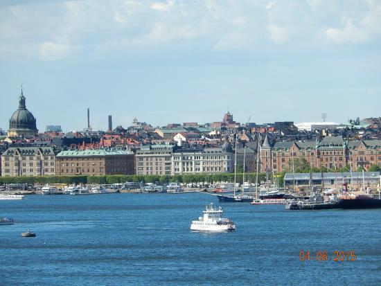 Hotel Hornsgatan: Vista de Estocolmo a partir do Barco que tomamos para Helsinque