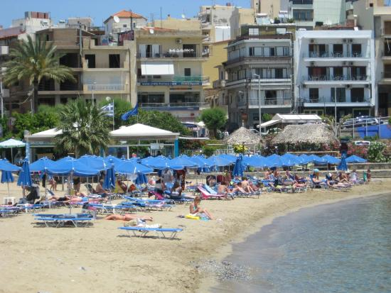 ammos beach area picture of creta hotel agios nikolaos tripadvisor. Black Bedroom Furniture Sets. Home Design Ideas