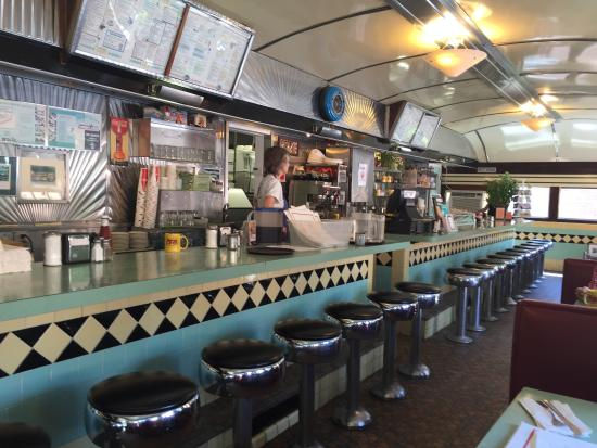 Birdseye Diner: Lunch counter waiting for customers