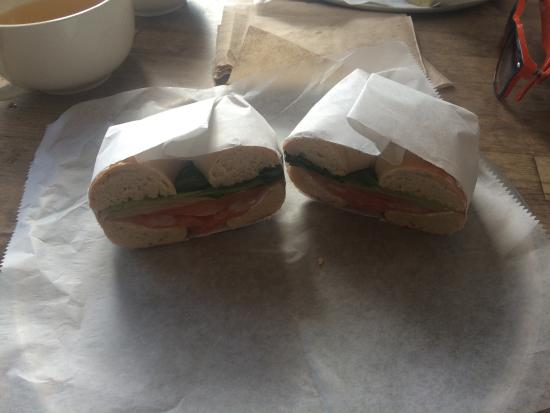 Tiny's Giant Sandwich Shop: Salmon and cream cheese