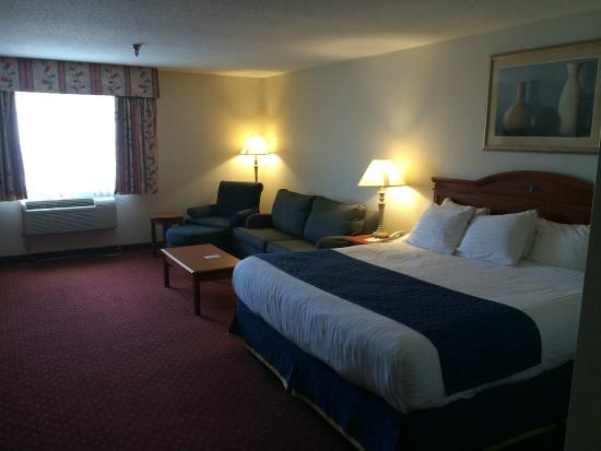 Best Western Airport Inn: Sleeping & sitting side of room