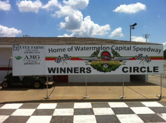 Watermelon Capital Speedway: New Winners' Circle Sign