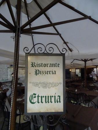 Ristorante Etruria: The restaurant sign