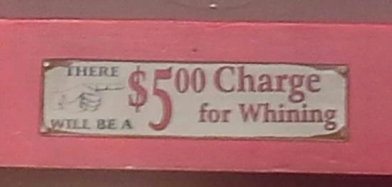 Bob's Diner: Whine list.