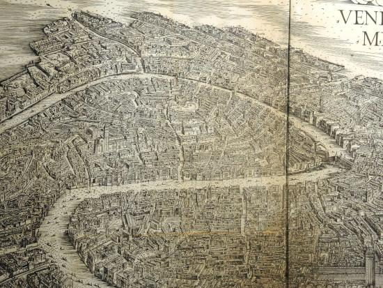 A Slice Of De Barbaris Map Of Venice Picture Of - Map of venice 1500