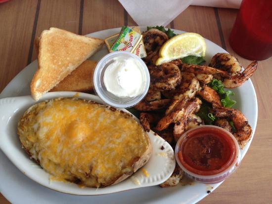 Spanky's Beachside: Blackened shrimp