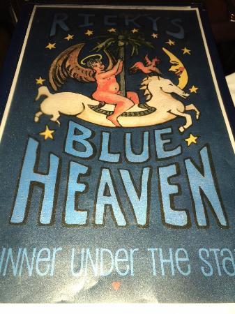 Blue Heaven: Front Sign