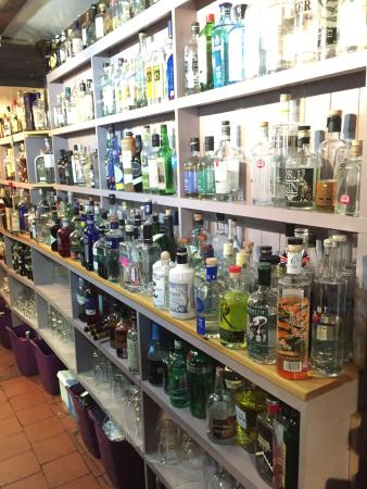 Woodbridge, UK: Gin collection to die for.