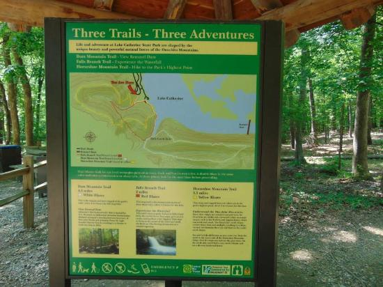 Lake Catherine State Park: Trail map