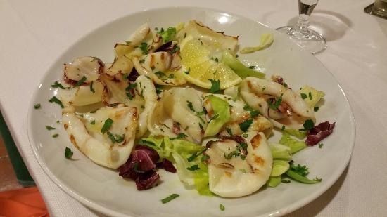 Fregene, Italia: Calamaro alla griglia