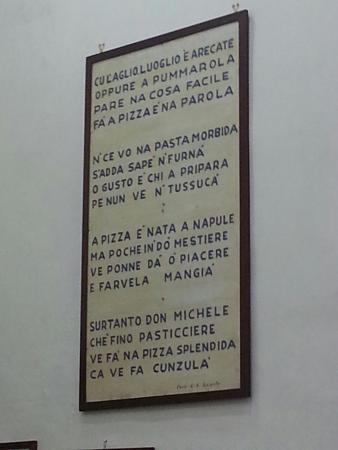 L'Antica Pizzeria da Michele: Leggila