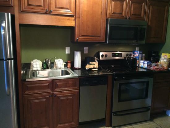 Church Street Inn: kitchen in unit, fridge is left of picture