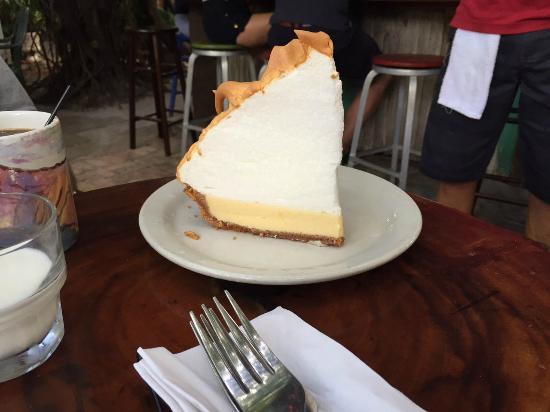 Blue Heaven: key lime pie!