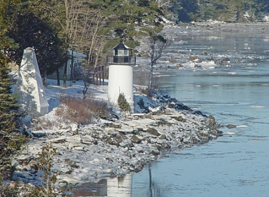 Whitlocks Mill Lighthouse: Whitlock's Mill Lighthouse in winter.