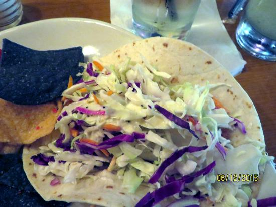 RJ's American Grill: One of the 3 fish tacos that comes with your order