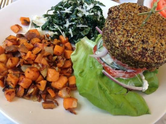 True Food Kitchen Burger Insideout Quinoa Burger  Picture Of True Food Kitchen Atlanta