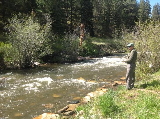Pick up the pecos wilderness map picture of pecos for Pecos new mexico fishing