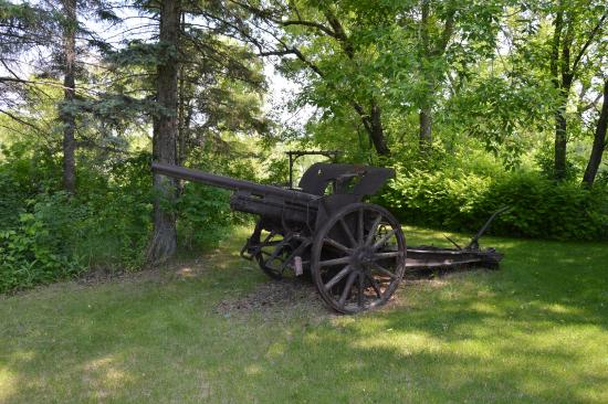 The Fidler House: Cannon in the back yard, because, cannon.