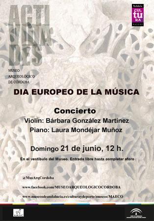 Museo Arqueológico de Córdoba: Día Europeo de la Música, 2015.