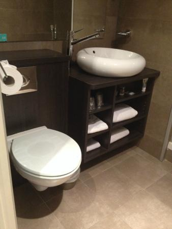 Mercure Quimper Centre : Toilettes, lavabo..