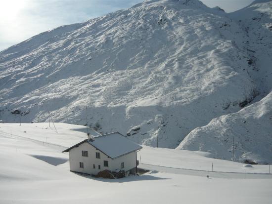 Cresta, Sveits: Winter