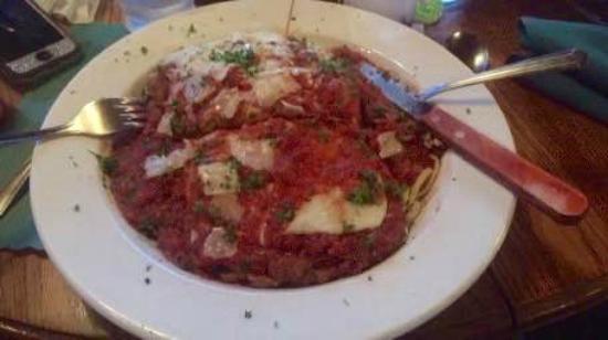 George's Restaurant: Eggplant Parmesan