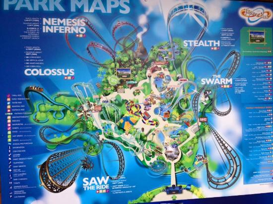 Thorpe Park Map thorpe park map   Picture of THORPE PARK Resort, Chertsey  Thorpe Park Map